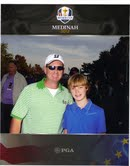 Andrew Hodson I and II at Medinah (4th generation fitter in training!)