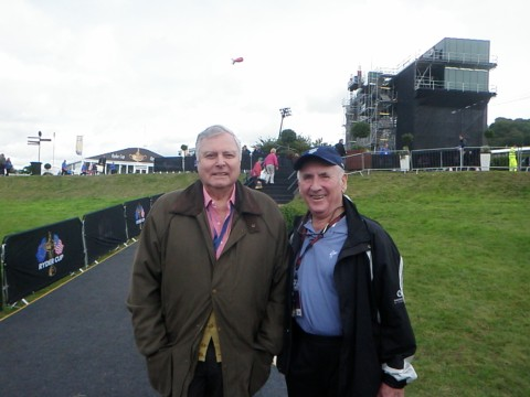Peter & Peter, Dad running into long family acquaintance Peter Alliss @ Celtic Manor
