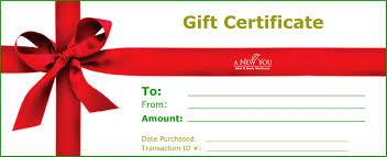 Fitting and Gift Certificates