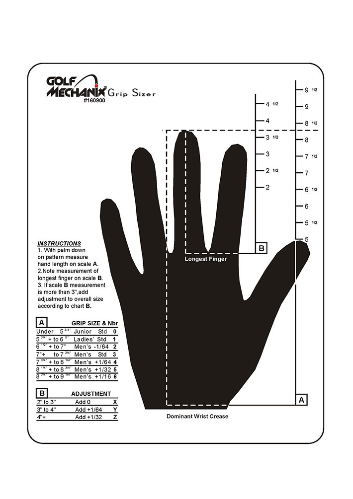 how to measure grips How can i determine what size golf club grips to use by dan howard related articles determining tennis racket grip size how to size football goalie gloves  then measuring the size of.
