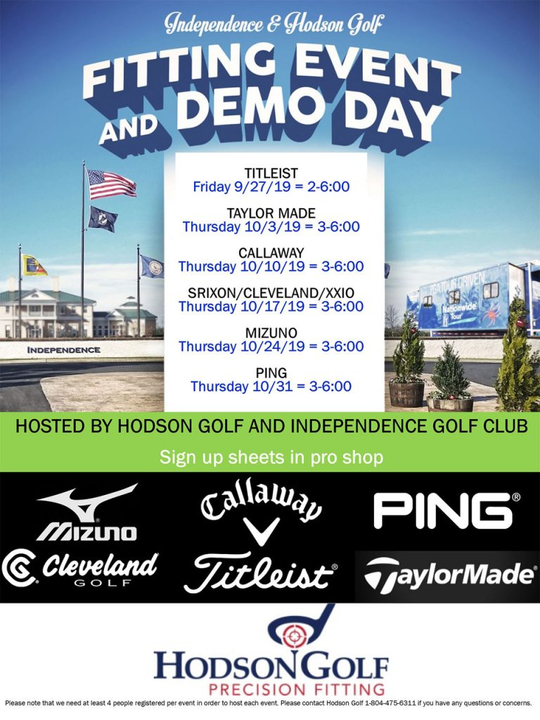 6 Straight Weeks of Private Vendor Fitting events at Independence!