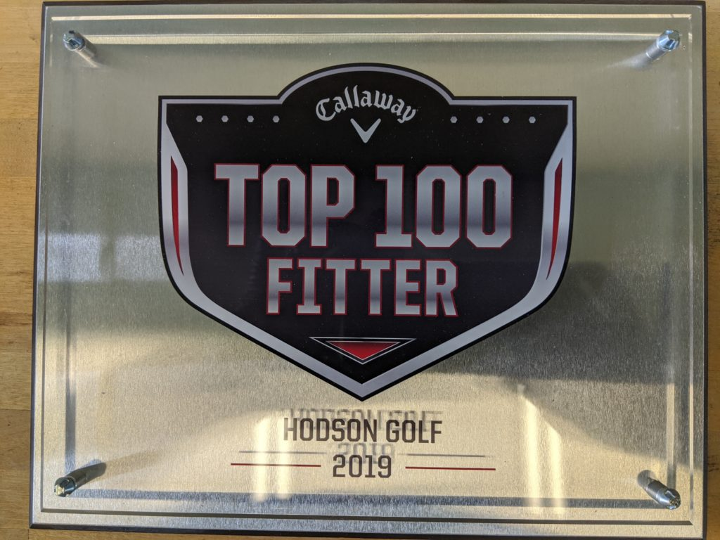 Hodson Golf Named Callaway top 100 clubfitter again for 2019