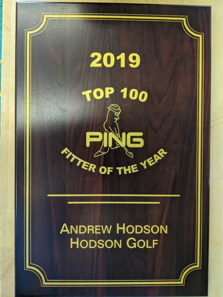 Hodson Golf proud to be named Ping top 100 clubfitter again for 2019